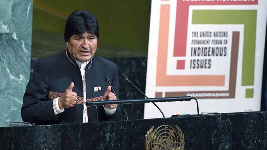 Morales pide a los indígenas unión para salvar a la Tierra del capitalismo