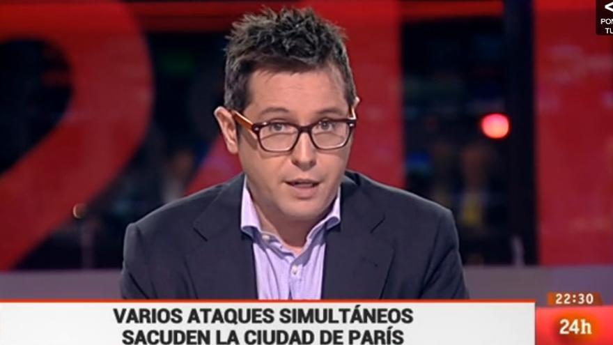 Sergio Martín ofreció una cobertura en directo del atentado a partir de las 22:30 horas