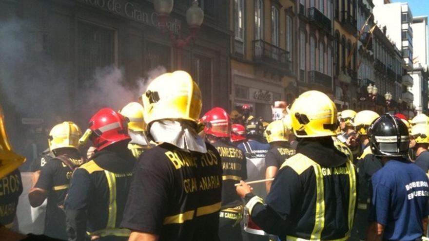 De las protesta de los bomberos #9