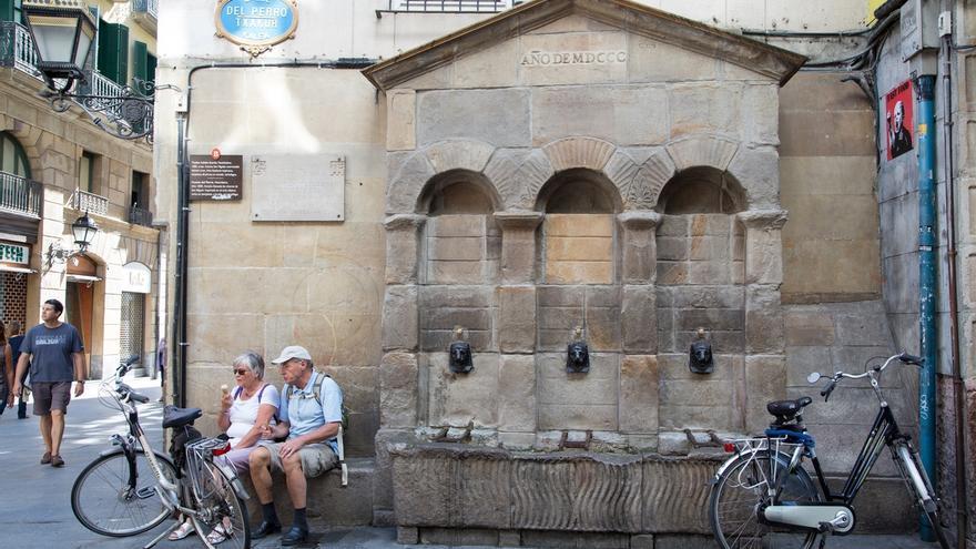 Ayuntamiento de Bilbao instala siete fuentes provisionales por toda la ciudad para hacer frente a las altas temperaturas