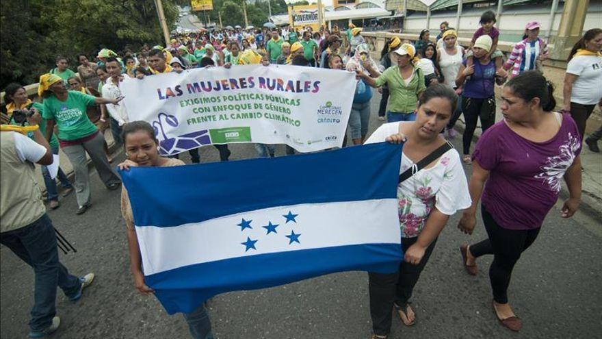 Ecologistas marchan en Honduras para pedir medidas contra el cambio climático