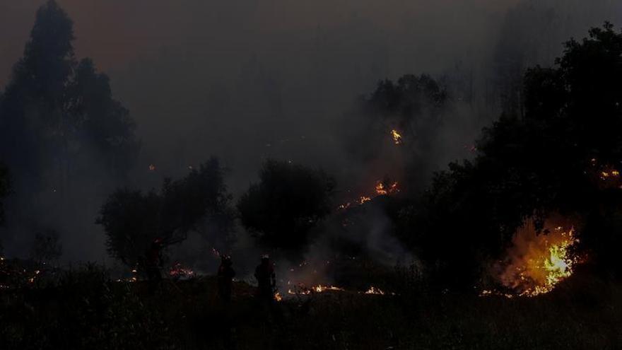 El calor y el viento disparan la alerta en las zonas castigadas por el fuego en Portugal