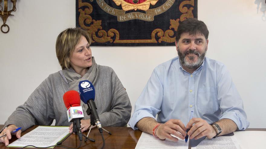 Esther Bolado y Héctor Lavín durante la rueda de prensa ofrecida este viernes.