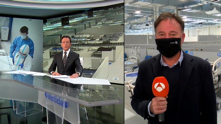 Antena 3 Noticias, sobre el hospital Isabel Zendal