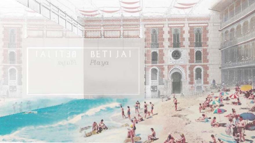 Recreación de la propuesta de playa para recuperar el Beti Jai | COAM