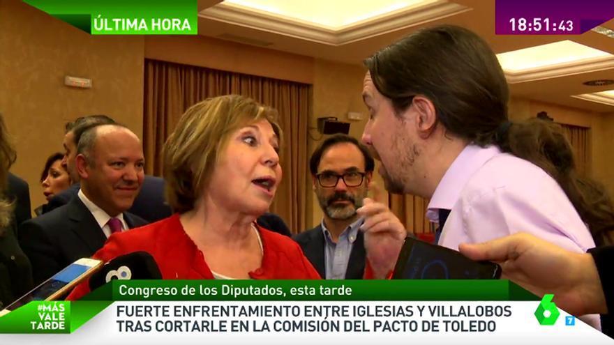 Rifirrafe de Villaloboes e Iglesias ante los reporteros y cámaras de TV