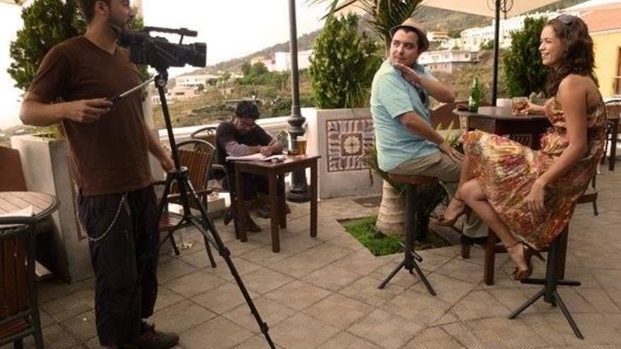 Imagen de un rodaje de un corto en Tiempo Sur.