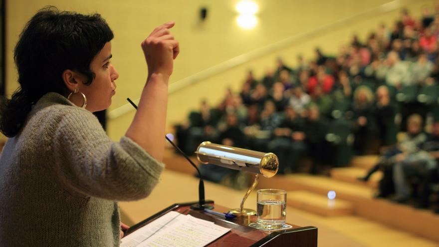 Teresa Rodríguez, profesora y activista de la Marea Verde y responsable de participación en Podemos.