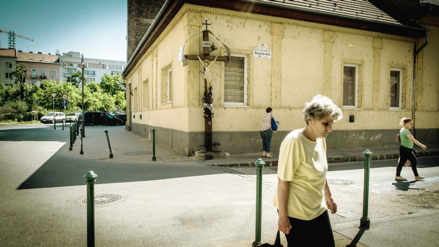 Una de las calles de Budapest.