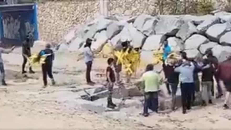 Captura de pantalla del vídeo grabado por el CDR de Canet de Mar