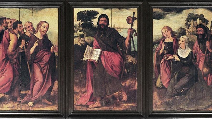 Tríptico de Santiago, S.XVI. Parroquia Matriz del Apóstol Santiago en Los Realejos. (Wiki)