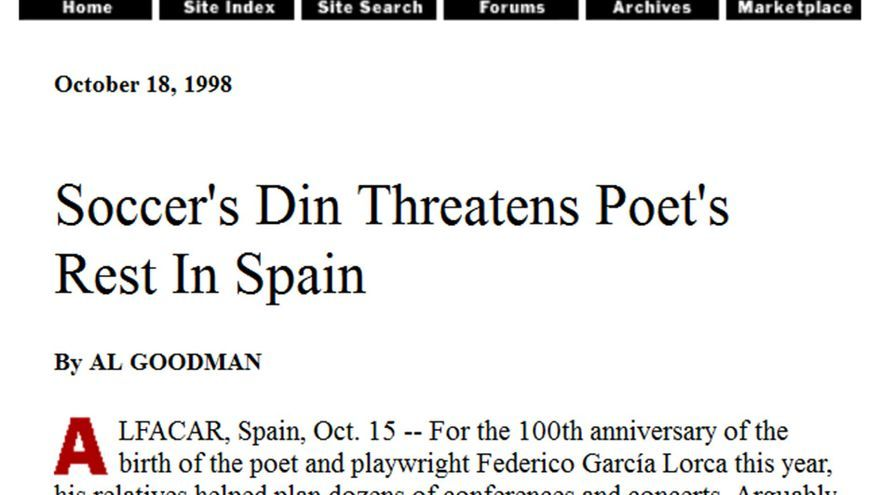 Lorca, en The New York Times.