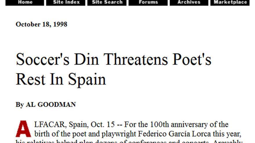 Lorca, en The New York Times.