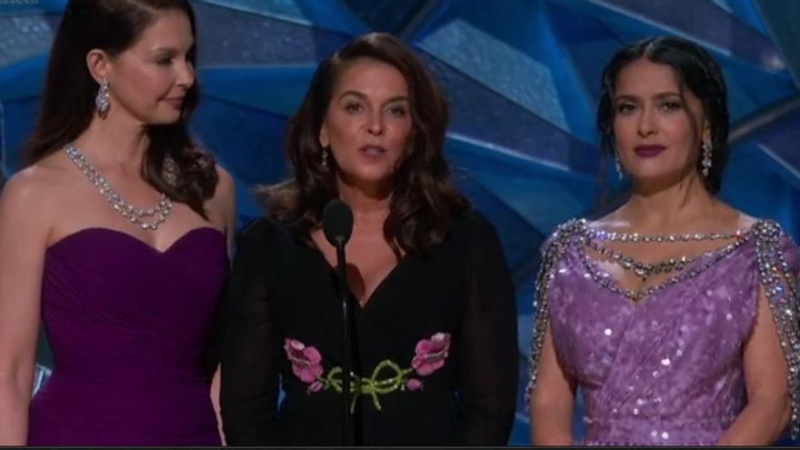 Ashley Judd, Annabella Sciorra y Salma Hayek, en los Oscar