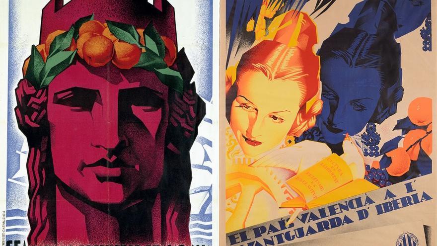 Imágenes de dos carteles de Artur Ballester