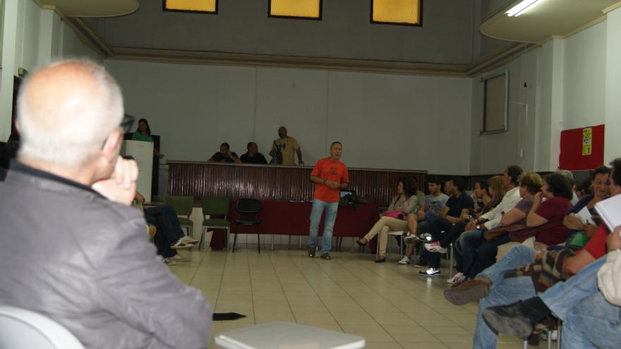 Asamblea de Podemos en la que se constituyó el círculo de Las Palmas de Gran Canaria.