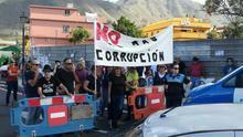 Protesta vecinal contra el proyecto de gasolinera en Tegueste, en una imagen de archivo