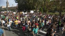 Manifestaciones en 30 localidades en el segundo día de huelga estudiantil