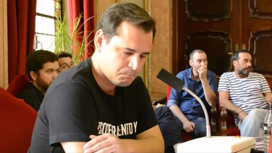 Sergio Ramos durante el Pleno dedicado al soterramiento en el ayuntamiento de Murcia