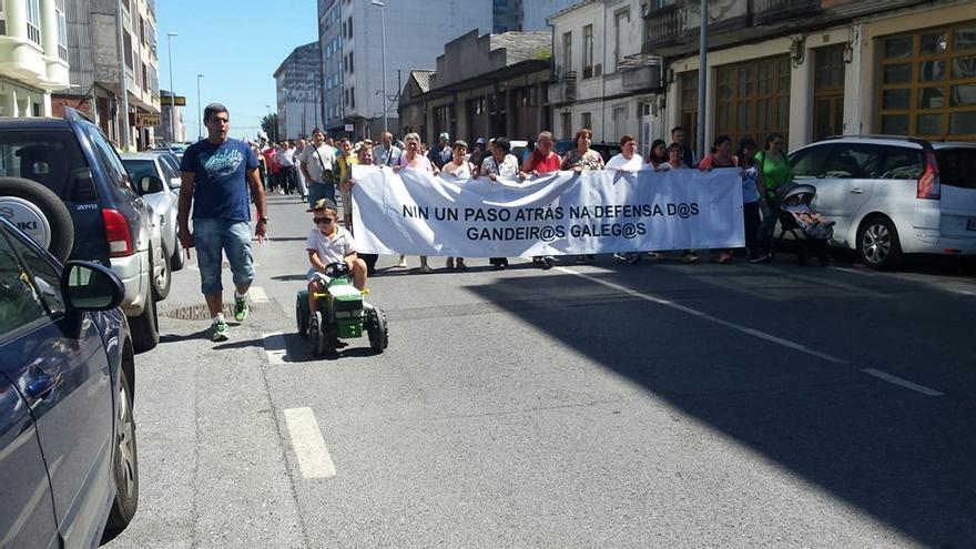 Cabecera de la manifestación en Vilalba / Revista AFRIGA