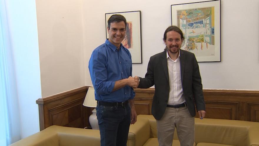 PSOE y Podemos estrechan su relación este lunes con la primera reunión de equipos presidida por Sánchez e Iglesias