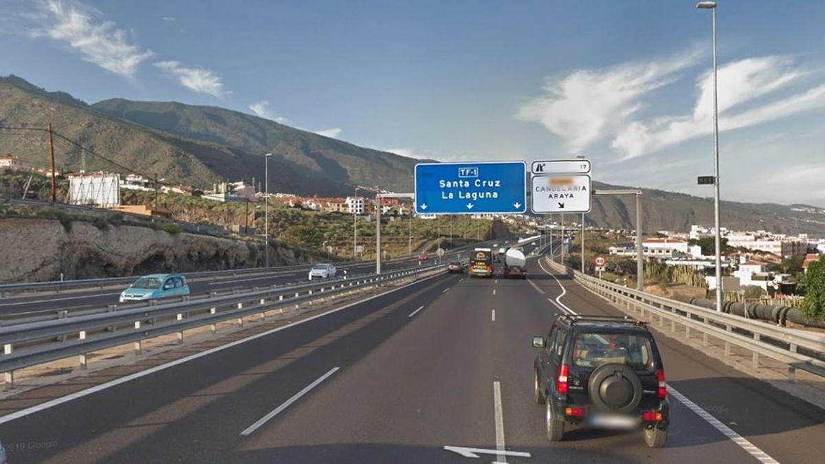 Autopista TF-1 a la altura de Candelaria
