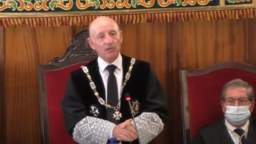 """El presidente del Alto Tribunal de Castilla-La Mancha: """"Sigo en estas funciones, y lo resalto o subrayo, que no en funciones"""""""