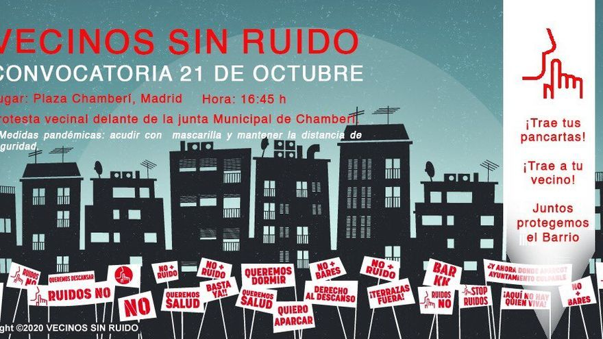 Cartel de la convocatoria de la protesta