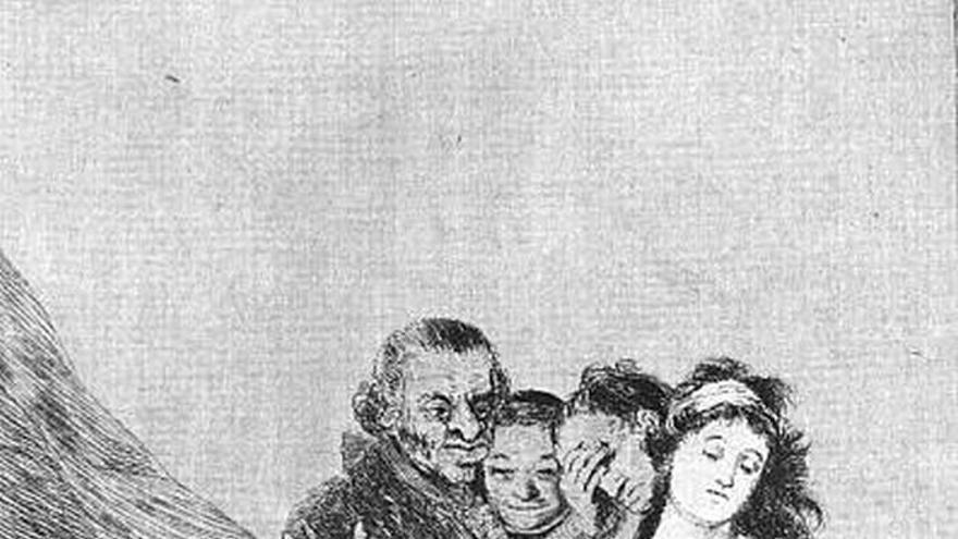 'Los Caprichos' de Goya. 'Qué sacrificio'