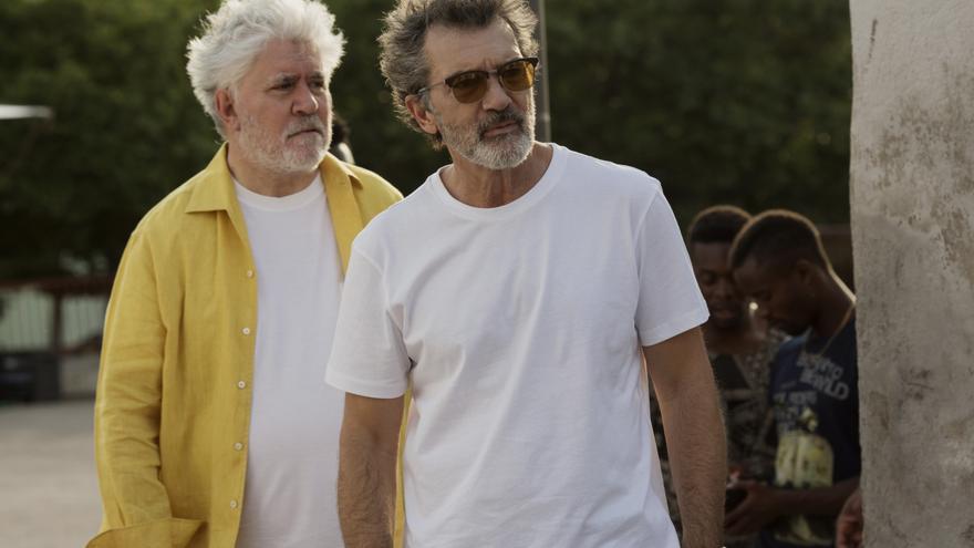 Antonio Banderas y Pedro Almodóvar