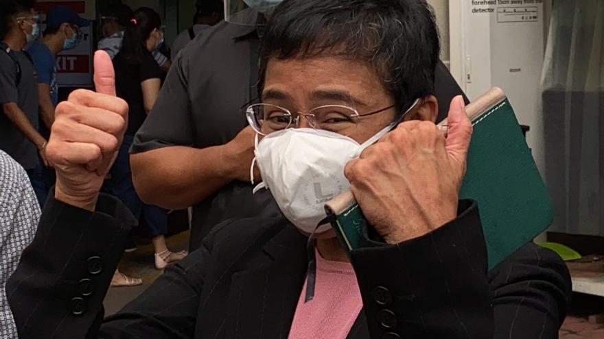 La filipina Maria Ressa gana el Premio Mundial de la Libertad de Prensa
