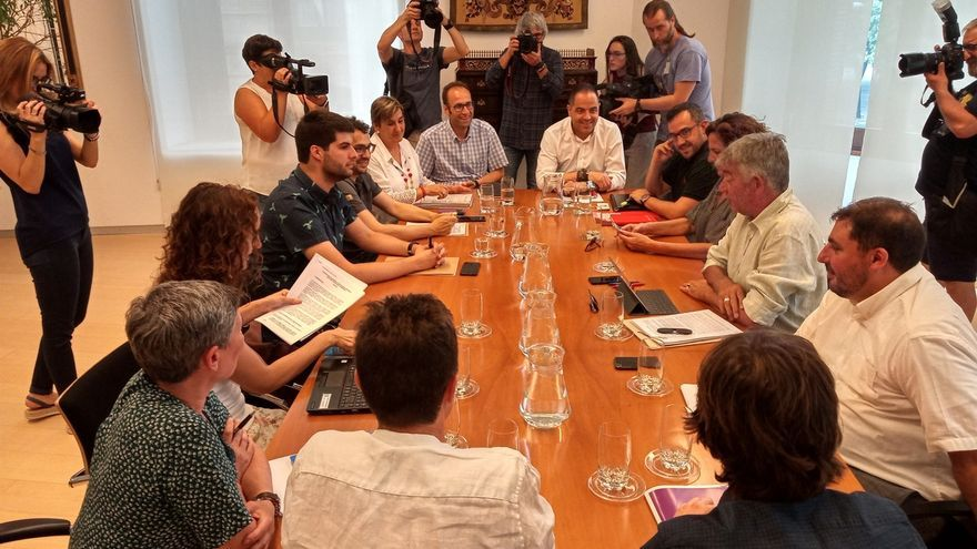 PSN, Geroa Bai, Podemos e I-E se reúnen este viernes para negociar la formación de Gobierno en Navarra