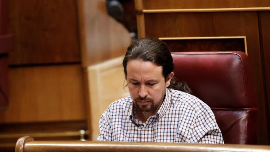 Pablo Iglesias durante el debate de investidura.