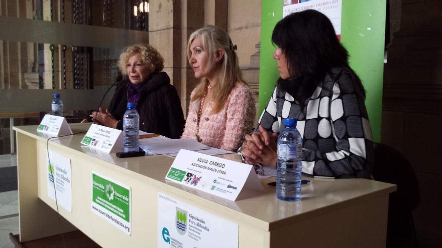 Presentación de la campaña 'Tengo derecho a mi cuerpo' en San Sebastián