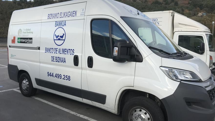 El Banco de Alimentos de Bizkaia recibe una nueva furgoneta gracias a una subvención de The Global FoodBanking Network