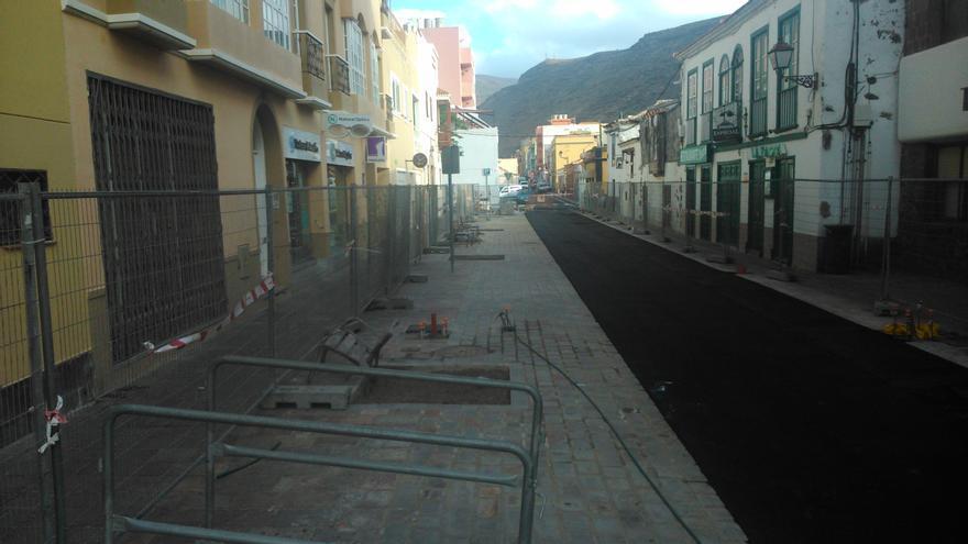 Tramo de la calle Ruiz de Padrón