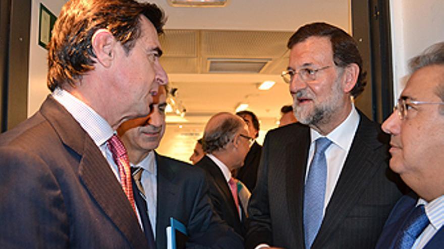 José Manuel Soria junto a Rajoy en el Comité de la Ejecutiva Federal. (ACN PRESS)