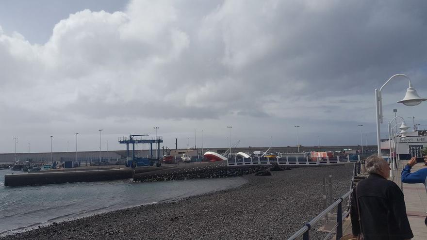 Temporal en el Puerto de Las Nieves, Agaete