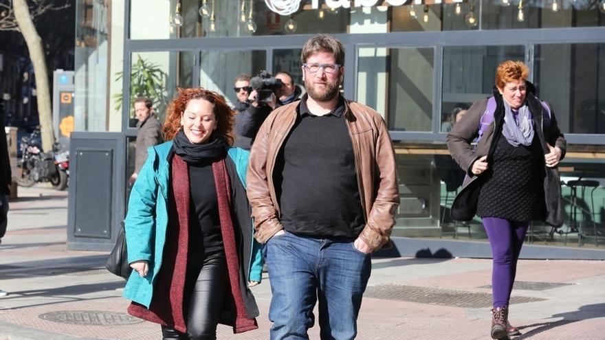 Los anticapitalistas apuran las últimas horas de votación en C-LM haciendo campaña por el 'No' al acuerdo con el PSOE
