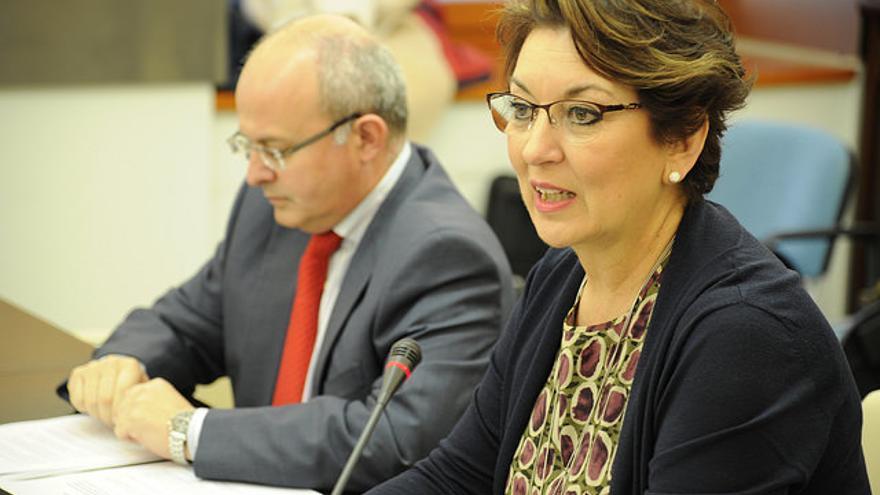 Carmen Santos, directora general de la Corporación Extremeña de Medios Audiovisuales (Canal Extremadura)