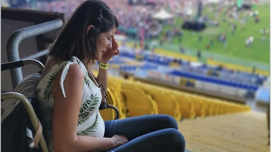 Silvia Santana, una de las afectadas de la zona por la ubicación de las personas con movilidad reducida del Sun & Stars Festival.