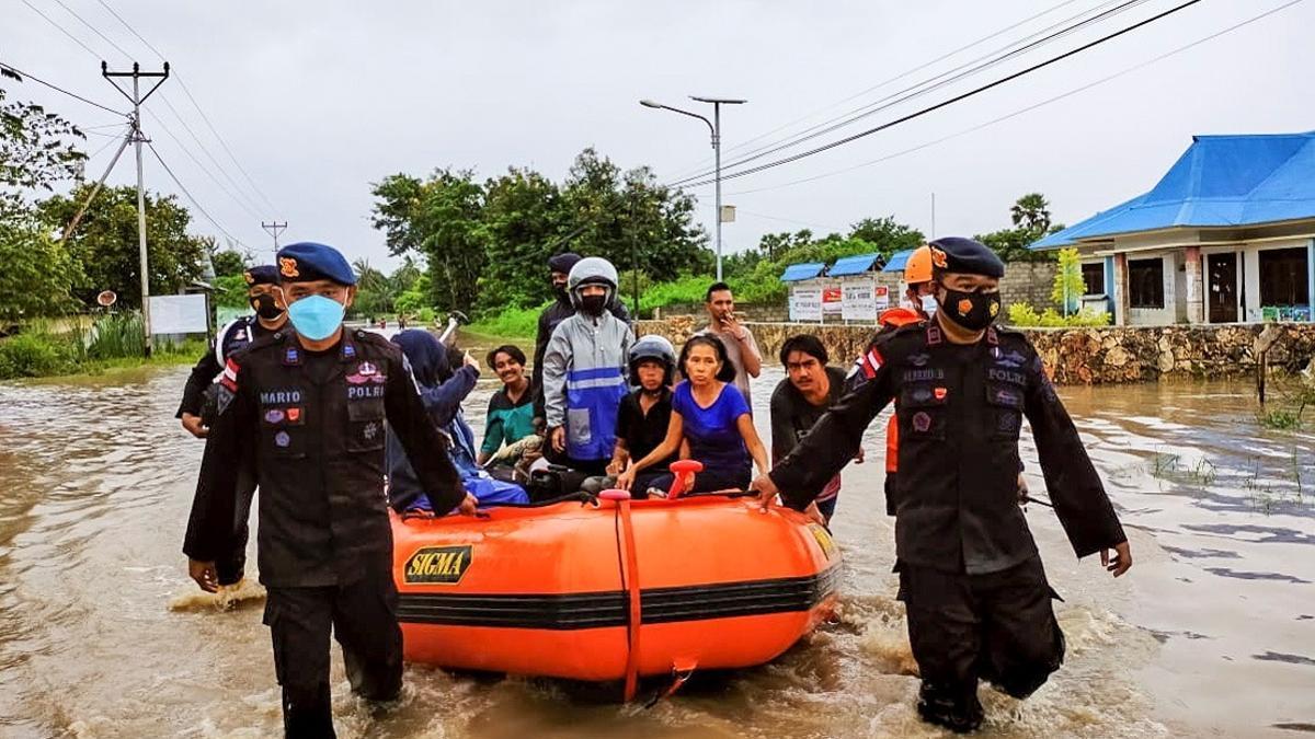 Imagen de las inundaciones en Waingapu (Indonesia)