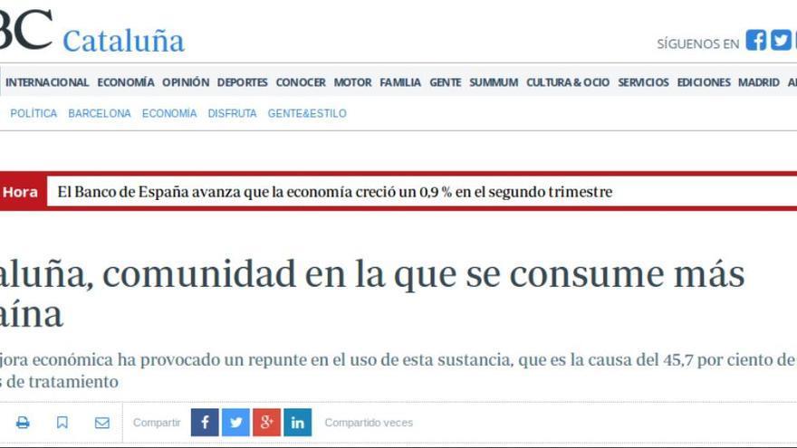 CATALUÑA COCAÍNA