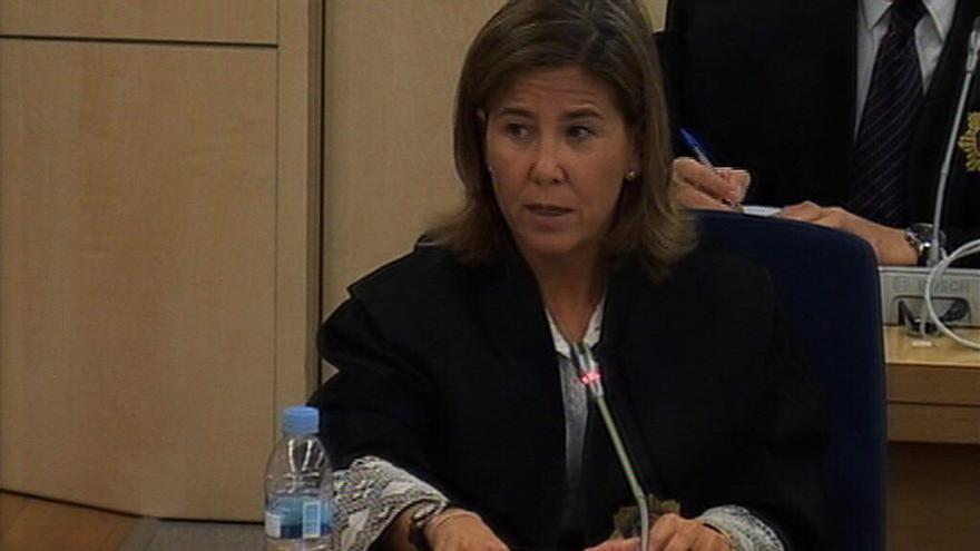 La fiscal Anticorrupción Concepción Sabadell, en un momento del juicio por el caso Gürtel