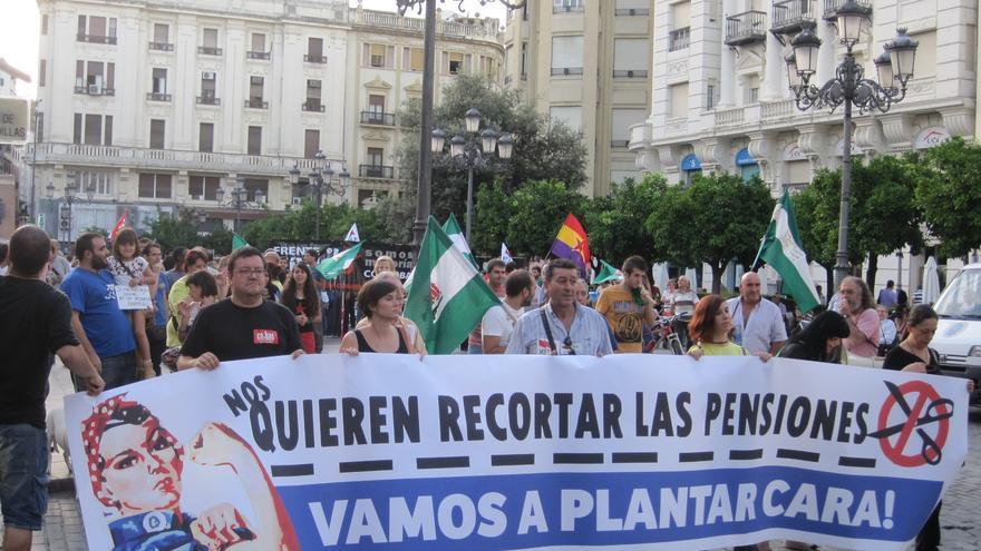 Manifestación contra la reforma de las pensiones.