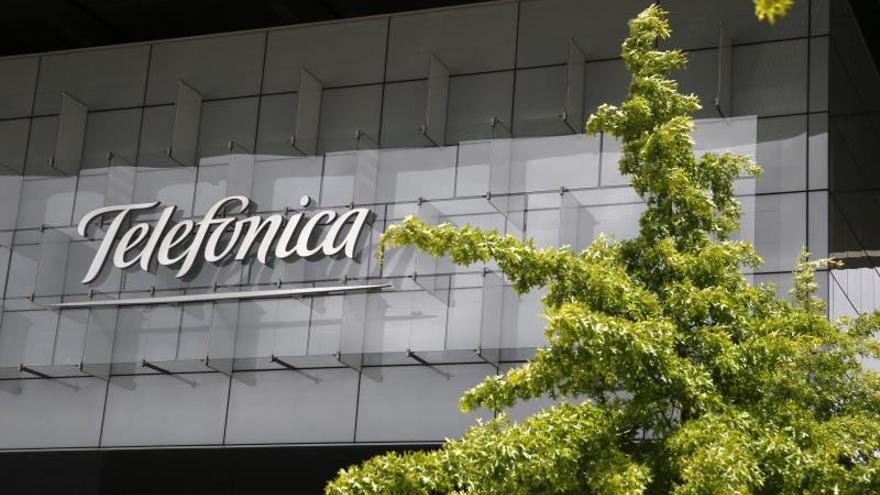 Fachada de la sede corporativa de Telefónica.