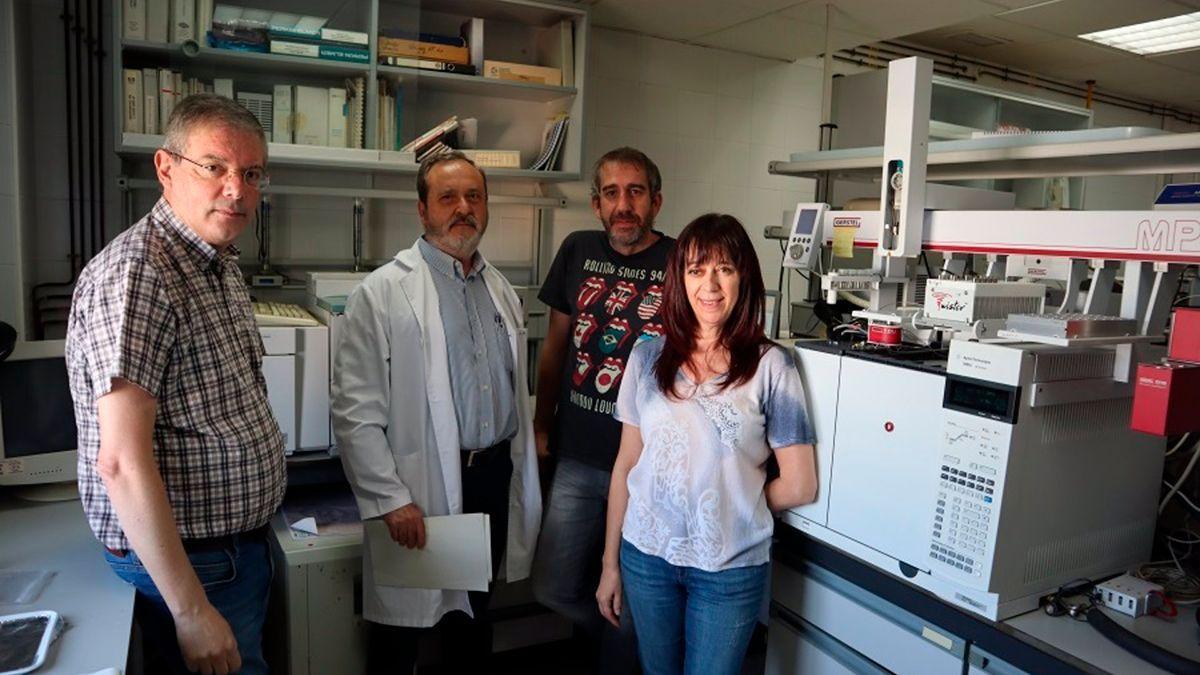 Investigadores participantes en el nuevo espumoso Montilla Moriles.