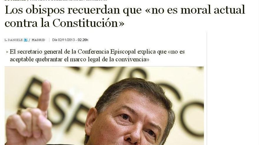 """""""Es inmoral actuar contra la Constitución"""""""