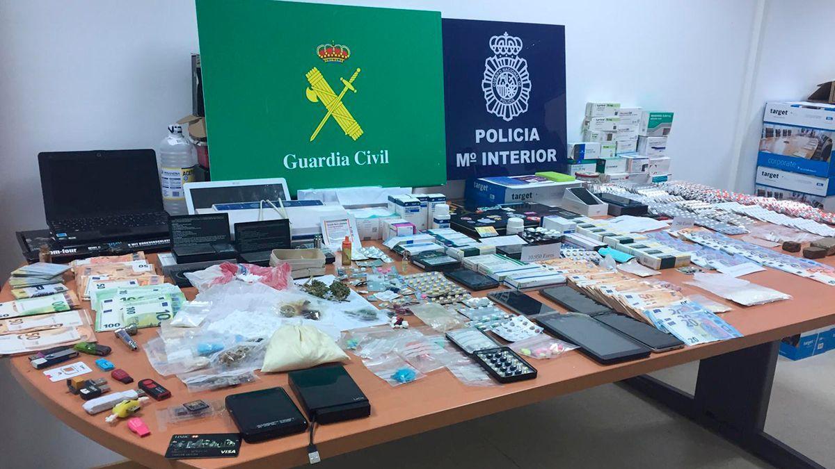 Operación Flemig Botica de la Policía Nacional y la Guardia Civil.