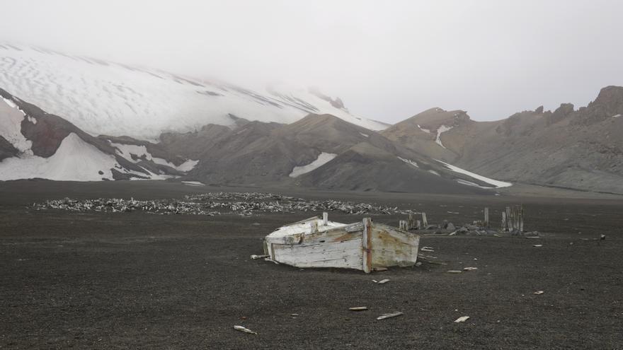 La isla Decepción del archipiélago de las Shetland del Sur, en la Antártida